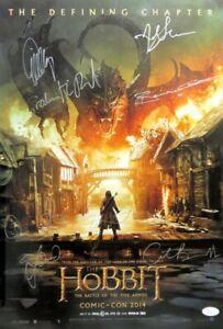 Hobbit-Five-Armies-Cast-Signed-Autographed-13x20-Poster-Cumberbatch-Wood-JSA