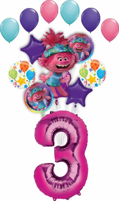 Mermaid Wishes and Seahorse 3rd Birthday Party Supplies Balloon Bouquet Decorations Mayflower