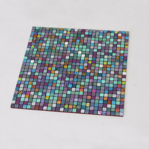 30cm Mosaic Style Wall Panel Luxurious Metal Tile Wall Sticker Wallpaper Decor