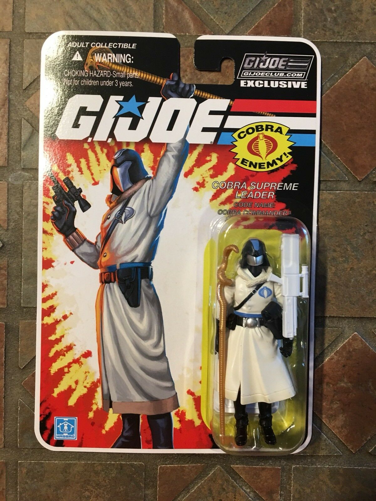GI JOE ARTIC COBRA COMMANDER  FSS 7.0 Con Collectors Club Exclusive Figure 2018