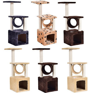 Cat-Kitten-Tree-Scratching-Post-Toy-Activity-Centre-Pet-Play-Climbing-Area-Bed