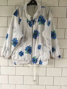 Retro Crazy Suit Vintage Bright Floral Jacket 90's Shell 128 Bold Windbreaker aIwUEpqUO