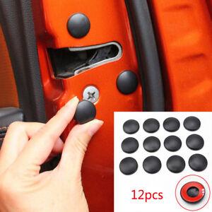 Black-Car-Interior-Door-Lock-Screw-Protector-Covers-Anti-Rust-Caps-Trim-Sticker