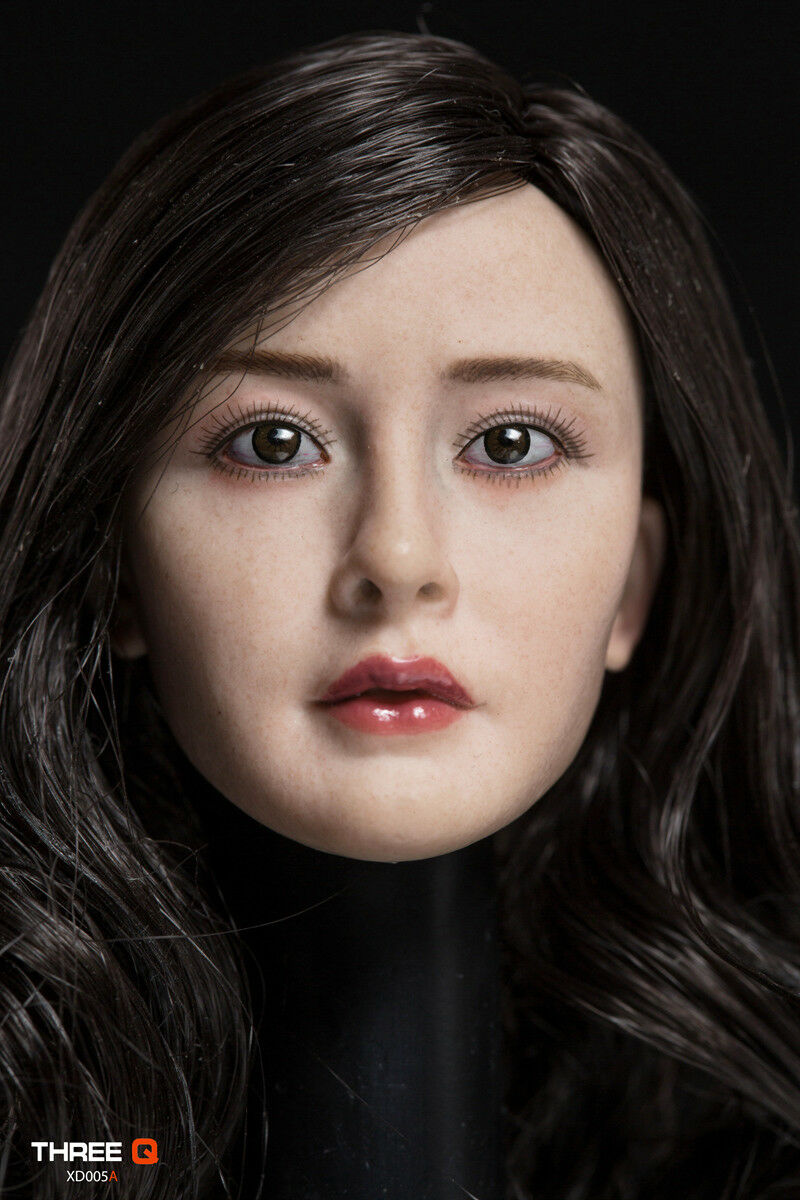 THREEQ 1 6 Asian Yang Mi XD005A Female Head Head Head Sculpt Carved Model Fit 12  Figure d8b22b