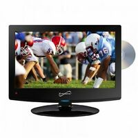 """Supersonic 1080p 15.6"""" Widescreen LED HDTV With Built-In Dvd Player SC-1512 New"""