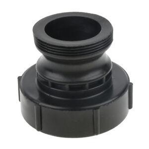 2inch IBC Fine Threads Drain Adapter Ibc Tote Tank Cap IBC Water Tanks-Black