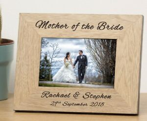Personalised Wedding Role Wooden Frame Mother Of Bride Groom Parents