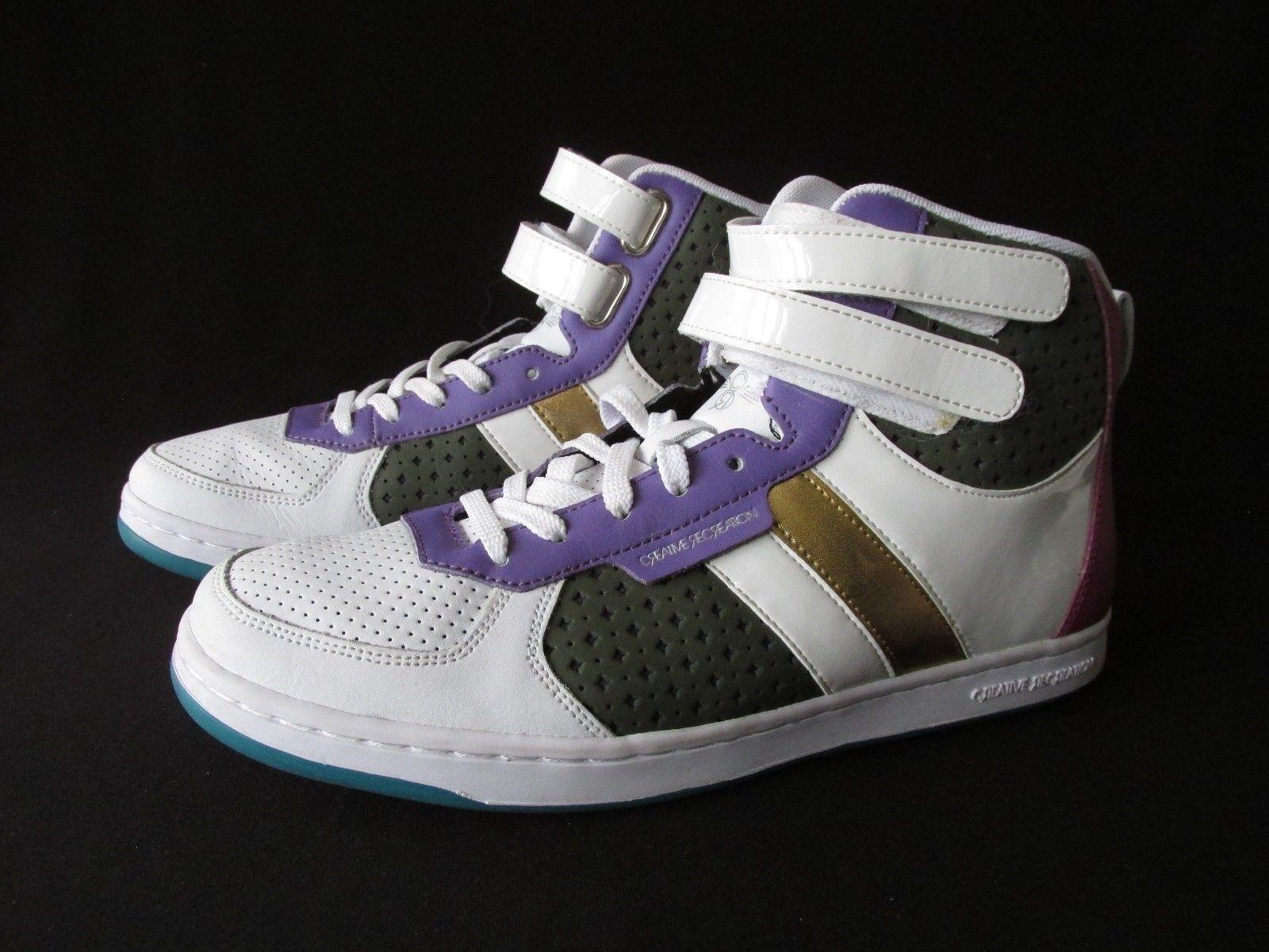 Creative Recreation Hi-Top Sneaker Chaussures Lace Up Velcro Femme US 10M EUR 42L