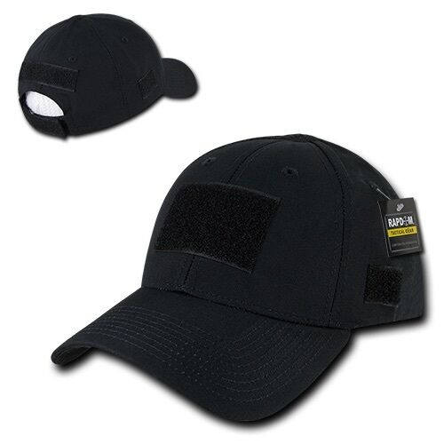 Black Tactical Ripstop Military Patch Operator Contractor Low Crown Cap Hat   a506d39fac17