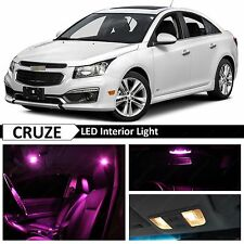 12x Premium Pink LED Lights Interior Package Kit for 2011-2017 Chevy Cruze