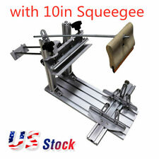 Us Stock Manual Cylinder Screen Printing Machine For Pen Cup Mug Bottle