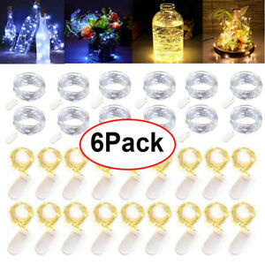 6Pack-Xmas-Decor-Battery-Operated-Mini-LED-Copper-Wire-String-Fairy-Lights-20LED