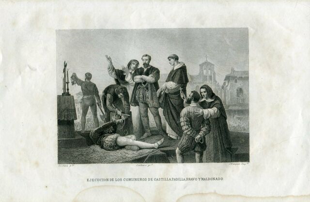Perform Of Los Community Members Castilla Engraved By J.Vazquez IN One Play Ant