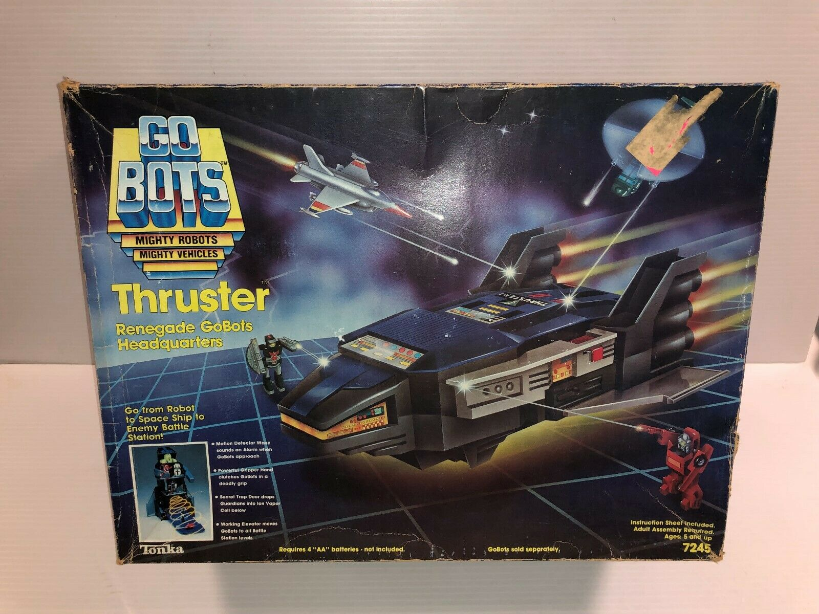 Go Bots Renegade Headquarter Thruster playset in box 7245 model & instructions