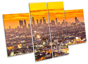 ca777c035163 Los Angeles Sunset City CANVAS WALL ART MULTI Panel Print Box Frame ...