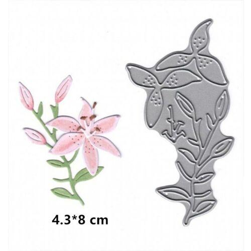 Vivid Daffodil Wild Flowers Metal Cutting Dies Stencil For DIY Scrapbooking
