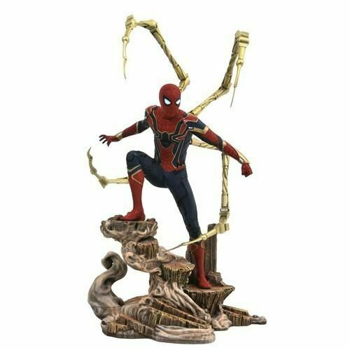 Avengers Infinity War Iron Spider PVC Gtuttiery Statue cifra Diamond Select giocattolo