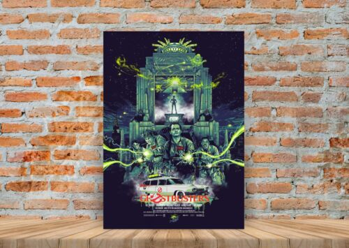 A3 A4 Sizes Framed Option Ghost Busters Movie Poster or Canvas Art Print