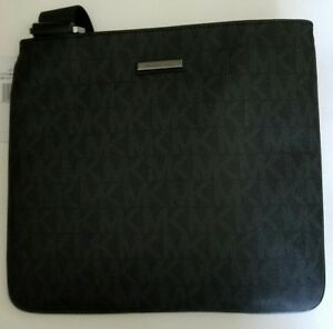 ac0635844983 Michael Kors Men's Russel Leather Medium Flat Crossbody Bag CHOOSE ...