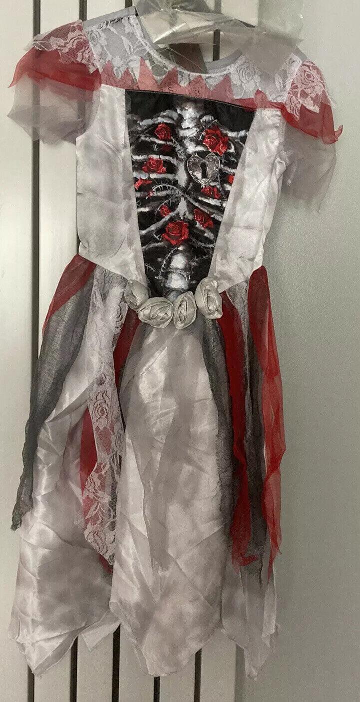 Brand New Creepy Costume Zombie Dress With Wig Age 9-10