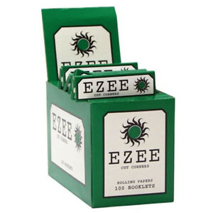 100 EZEE Green Regular Standard Size Rolling Papers Full Box 5010891013701