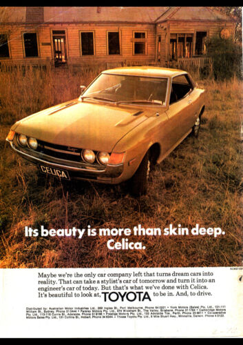 """1974 TOYOTA CELICA LT HARDTOP A4 POSTER GLOSS PRINT LAMINATED 11.7""""x8.3"""""""