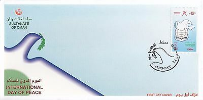 F 682 Oman September 2003 Year Of Peace First Day Cover 100% Original Middle East