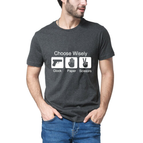 Choose Wisely Glock Paper Scissors Shirt Mens Shirt Tee T Shirt XS-3XL