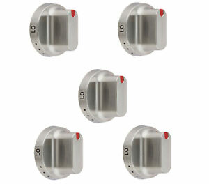 5 x Knob Dial Compatible with Samsung Range NX58F5500SS, NX58H5600SS