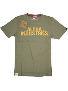 Alpha-Industries-T-Shirt-Blurred-T-186505-11-Oliv-Orange-6187