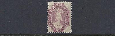 Voll Og F/vf Mh Tasmanien 1863-91 Sg ? 6d Lila Perf 11.5