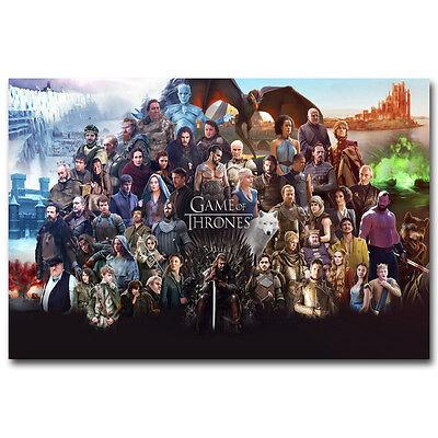 Game Of Thrones Season 7 TV Show Canvas Posters Art Prints 8x12 24x36 Daenerys