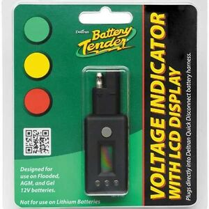 Battery-Tender-Quick-Disconnect-Plug-With-LCD-Voltage-Display-Monitor-081-0157
