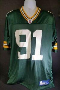 NFL-Equipment-Reebok-Mens-EX-Green-Bay-Packers-Jersey-91-Harrell-Large-New-80