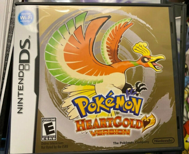 Nintendo DS Pokemon HeartGold case NOT FOR RESALE w/Manual +inserts NO GAME