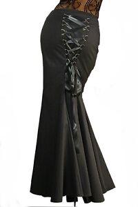 huge selection of 134ea 91f8e Details zu ANT 12185 Gothic Rock Eleganter langer Rock lang schwarz Gr. 36  38 40 42 44