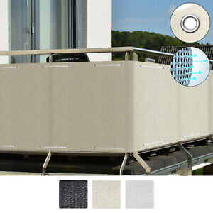 Sol-Royal-Balcony-Privacy-Screen-Eyelets-amp-Cord-HB2-90x300-cm-Cream