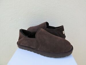 76e058039ba Details about UGG KENTON CHOCOLATE SUEDE/ SHEEPWOOL SLIPPERS, MEN US 11/  EUR 44 ~NIB
