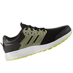 brand new 061dd d83b3 Image is loading ADIDAS-MENS-Shoes-Galaxy-3-Trainer-Black-Grey-