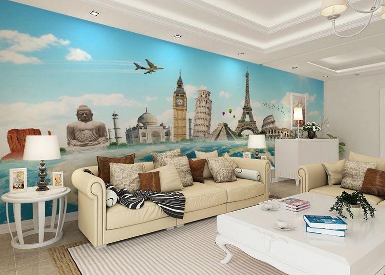 3D World City AttractionWallPaper Murals Wall Print Decal Wall Deco AJ WALLPAPER