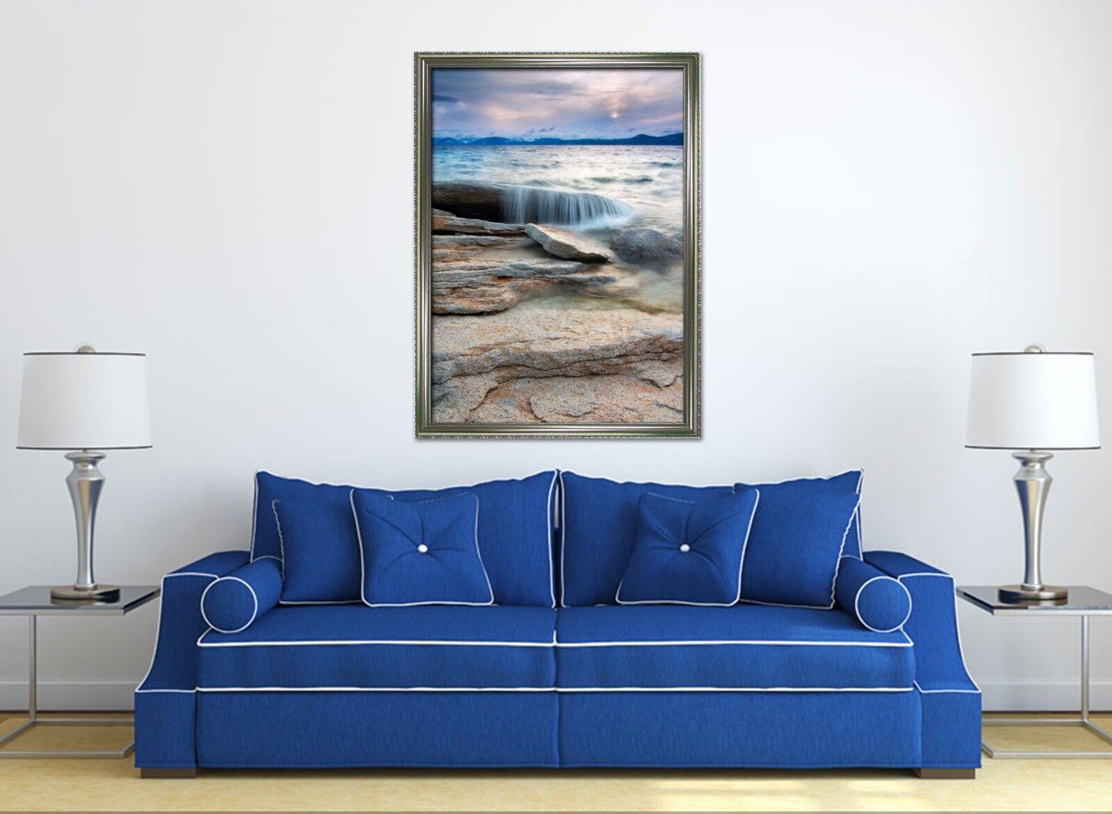 3D Natural Coast 677 Fake Framed Poster Home Decor Print Painting Unique Art