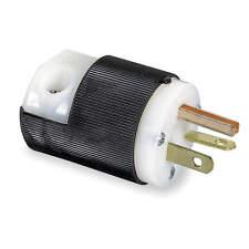 Hubbell HBL5466C, Insulgrip Straight Blade Plug, 20A, 250VAC.2 Pole