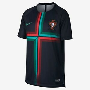 Nike Portugal WC World Cup 2018 Soccer Pre Match Training Jersey Teal Green