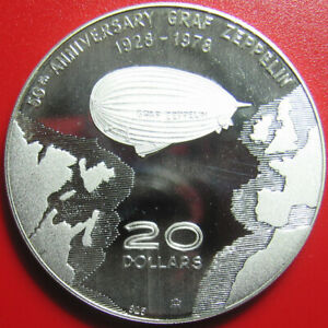1978-DOMINICA-20-SILVER-PROOF-ZEPPELIN-034-MAPLE-LEAF-034-CANADIAN-HALLMARK-MNT-233