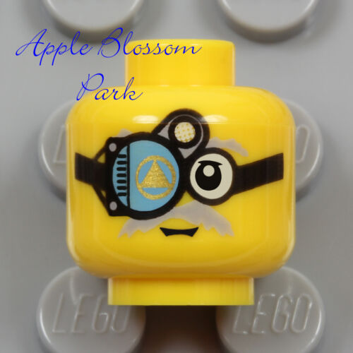 NEW Lego Mad Scientist MINIFIG HEAD Atlantis Cyborg Monocle Goggle Glasses Scope