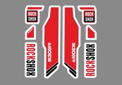 Rock Shox Boxxer Mountain Bike Cycling Decal Kit Sticker Adhesive Red 8 Pcs