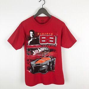 Hot-Wheels-Car-Dale-Earnhardt-Jr-88-Kids-Youth-T-Shirt-Size-14-16-Red-Tee