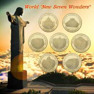 Wr 2007 New Seven Wonders Of The World Gold Coin Set Value Lot