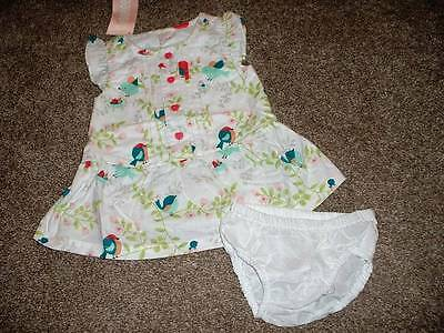 Gymboree Baby Girls Birds & Dinos Lovebirds Dress Set Size 0-3 months NWT NEW