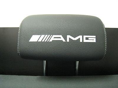 Headrest Badge decal sticker Mercedes-Benz *AMG* 4-pcs